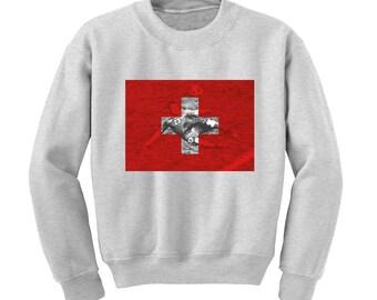 Russia World Cup 2018 Graphic Sweatshirt SWITZERLAND Flag Football Team Soccer