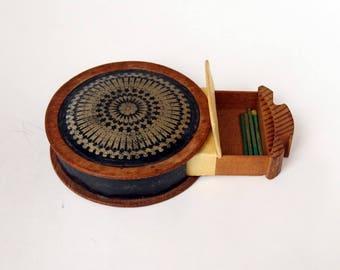 Wooden Vesta Box with a Sprung Drawer
