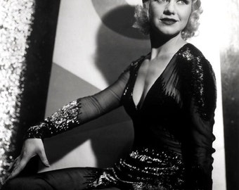 Ginger Rogers Hollywood Movie Film Star, Glossy Black & White Photo Print Picture - 7x5, 10x8, A4