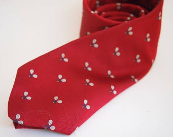 Vintage Tennis Skinny Tie