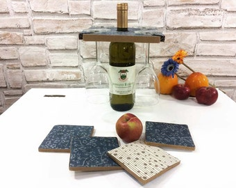 Mother gift, Best friend gift, Teacher gifts, wine rack vegan gift, wine glass holder, sustainable gift, wine lovers gift, wine accessories