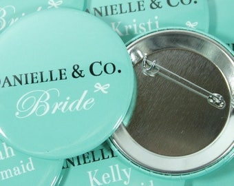 Bride and Company Bridal Party Name Tags