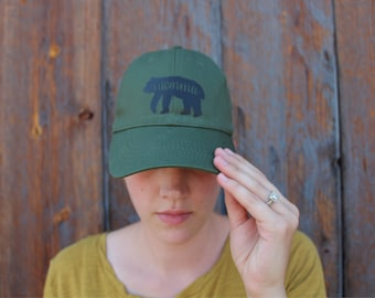 Army green momma bear womans hat