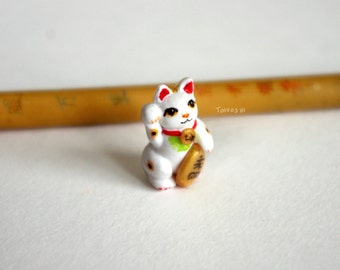 Maneki-neko Lucky Cat polymer clay miniature