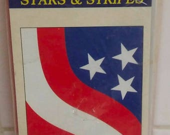 "On Sale Vintage and NEW, In The Wind ""Stars & Stripes"" Decorative Flag, Nylon Applique Flag, 28"" x 40"", 4th of July, Patriotic Flag, Indepen"