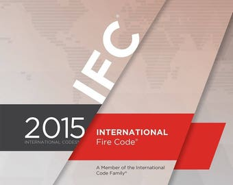 2015 International Fire Code (IFC) by International Code Council (PDF on CD)