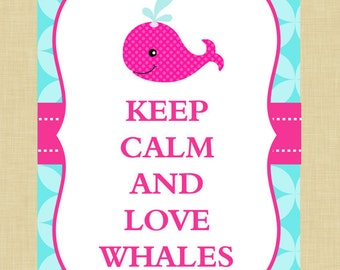 Whale Keep Calm Art