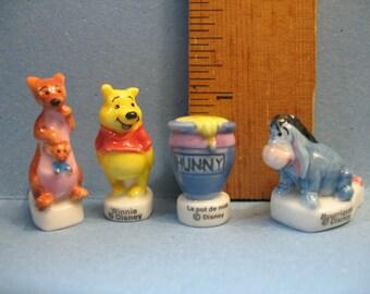 WINNIE the POOH Eeyore Kanga & Roo- French Feve Feves Figurines Miniatures  U73