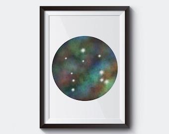 Libra Wall Art, Libra Poster, Libra Constellation Print, Astrology Digital Printable Poster