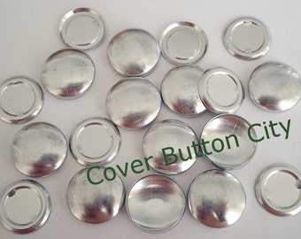50 Cover Buttons Size 30 (3/4 inch) - Flat Backs