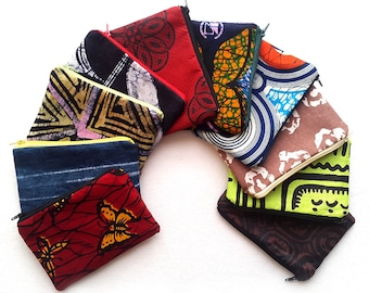 Zipper Pouch Set, African Wedding Favours, Afrocentric gift, African print and Batik Zipper pouches, Gift Set, Stocking Filler, Gift for her
