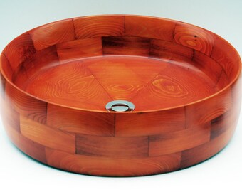 Superior wooden bathroom sink. Exotic wood vessel sink.