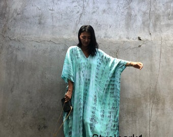 New Tie dyed ,Long Kaftan simple Dress, stylish, Elegant, Miami,lbiza,Holiday Dress,Evening dress,loose fit,Vacation