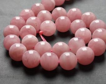 AAA Natural Rose Quartz Gemstone Beads Strands, Round 6 8 10 12 14 16mm Pink Stone Beads  (ZW1)