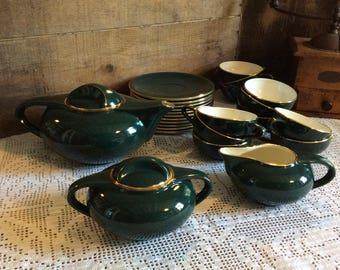 Vintage 1950's porcelain 11 piece SALINS Tea / Coffee service Set stylish retro