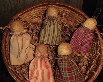 Primitive Mini Angel Ornies / Bowl Fillers