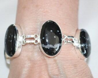 Snowflake Obsidian Bracelet !!