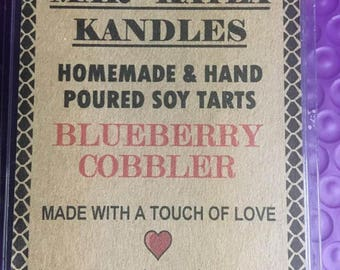 Blueberry Cobbler Soy Wax Melt, Homemade & Poured with the Best Soy Wax And Finest Fragrance Oils.