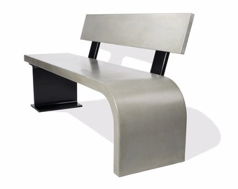 Concrete Bench with Steel Support
