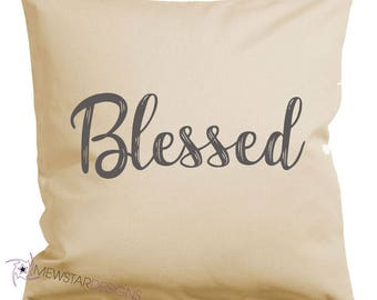 Blessed Pillow, Throw Pillow, Canvas Pillows, Pillow Cover, Printed, Custom, Religious, Home Decor, Decorative Pillows, Housewarming Gifts