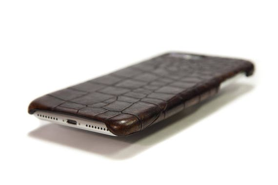 NEW iPhone Calf Leather Printed Alligator  Case for New iPhone X 8 7 6s or Samsung Galaxy S8/NOTE 8/S7 or Pixel 2 XL choose the Color