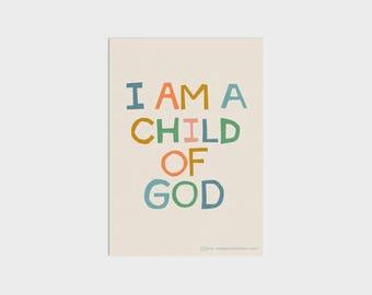 I Am A Child Of God Word Art Print