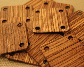 10 pcs. Wooden (zebrawood) weaving tablets. SCA. Reenactment