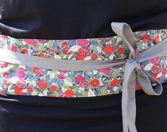 Cotton obi belt