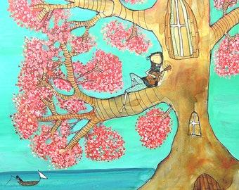 Ukulele Tree- Archival Print