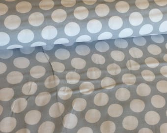 Polka Dot Double Gauze fabric in Grey by Robert Kaufman
