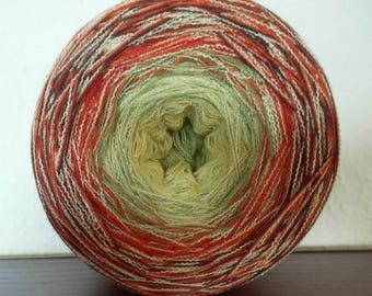 Gradient yarn cotton/polyacrylic/viscose