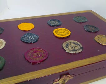 Burgundy Decoupage Wine Foil Box