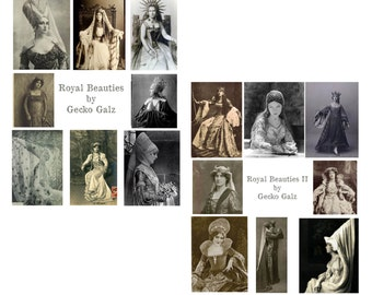 Royal Beauties Digital Collage Set