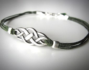 Outlander Bracelet, celtic bracelet, Celtic jewelry, Best Seller, Sterling Celtic Knot bracelet, Irish bracelet, Scottish bracelet, st patty