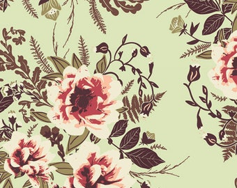 100% Quilter's Cotton, Art Gallery Fabric, Wild Posy Luminous, Floral Fabric, Quilting Fabric, Quilting Cotton