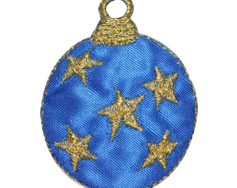 ID 8225B Starry Christmas Tree Ornament Patch Bulb Embroidered Iron On Applique