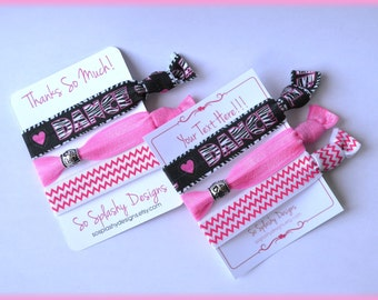 Dance Party Favors! Dance hair ties, gift for dancer, dance team gift, girls party favors, dancer gift, dance recital gift, love to dance