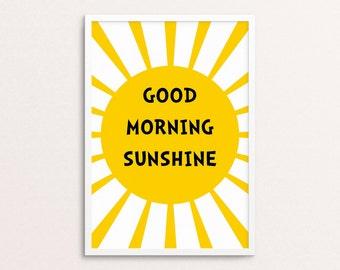 Good morning sunshine | Scandi style | Nursery and kids room | Digital download