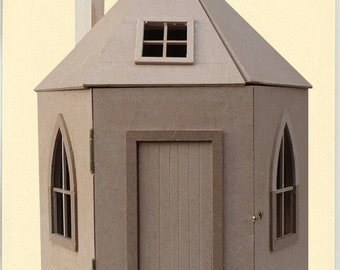 round dollhouse kit 1/12 scale