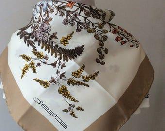 Vintage foulard d'Este with flowers