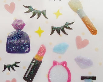 Japanese Cute Stickers.Make Up store.Xtra Rare.Sparkle