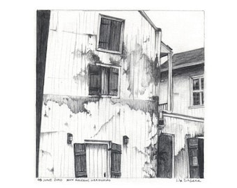 New Orleans Weather Original pencil drawing