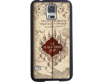 Harry Potter Inspired Marauders Map Case For The Samsung Galaxy S4, S5, S6, S6 Edge, S7, S7 Edge, S8 or S8 Plus.