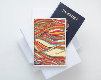 Colorful Passport Wallet Passport Cover Leather Passport Holder Passport Case Passport Pouch Passport Purse Travel Accessories Travel Gift