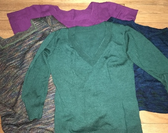 Wool/Silk Custom Handknit Sweater