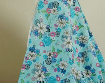 Fabric cotton blue flower 150 cmx50cm