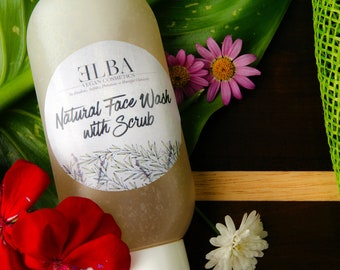Natural Face Wash with Scrub