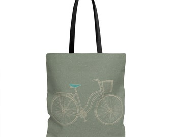 Retro Beach Cruiser Tote Bag