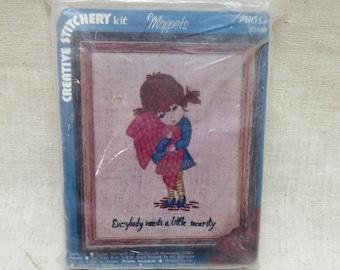 Moppets, 1974 Crewel Embroidery Kit, Vogart Crewel Kit