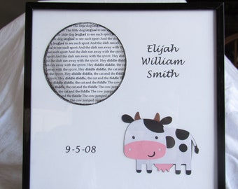 Hey Diddle Diddle - Personalized Baby Gift